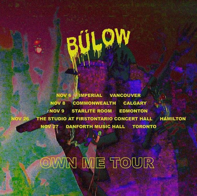 """Bülow releases Canadian Tour Dates For Her """"Own Me Tour"""""""