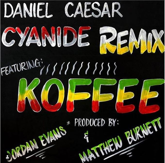 "Daniel Caesar & Koffee release remix to ""Cyanide"""